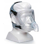 Face Mask, FitLife, Total Full-Face, Small, Headgear, Unrestricted View