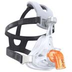 Face Mask, AF541, EE Leak 1 Elbow, Four Point Headgear, Under the Nose, Size A
