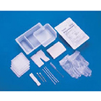 Tracheostomy Care Kit, w/ Gloves, Dressing, Tape, Pipe Cleaners, Brush, Applicators, Gauze, Underpad