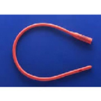 Urethral Catheter, Robinson, 14 Fr, 16in, Red Rubber Latex, 2 Staggered Eyes, X-Ray Opaque, Sterile
