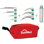 Laryngoscope Blade Kit, GreenLine/D, Fiber Optic, Disposable Blades, Incl Handle, 3 Mac, 4 Miller
