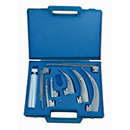 Case for Laryngoscope Kit, Hard Plastic, Foam Cutout for Handle, 7 Blades, Spare Lamps, Case Only