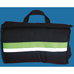 Case, for Airway Management, Black Nylon w/Green Strip, Soft, 3-way Fold Out, Case Only