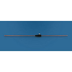 Intubating Stylet, Solid Copper, Malleable, w/Adjustable Stop, Disposable, 8 Fr, 14 3/4 inches
