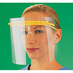 Face Shield Kit, FullView, incl 3 Reusable Visors in Assorted Colors and 15 Disposable Clear Shields
