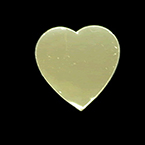 Probe Cover, Heart Shaped, 1 1/4in, Gold Color, Disposable