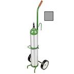 "Cylinder Cart, Steel, Chrome, Capacity 1, Gurney Hook, 41"" H x 10"" D x 12"" W, 2-6"" Wheels, 6 lbs"