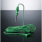 Cable, Electrosurgical, Monopolar, Green, Sterile, Banana Pins, Straight, Disposable, 10 ft