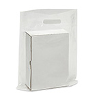 Plastic Bag, 12in x 15in, Clear, with Die Cut Handle