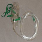 Oxygen Mask, Adult, 7ft Tubing, 3 Channel, Disposable