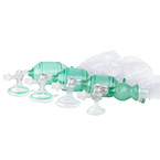 Manual Resuscitator BVM, AirFlow, Small Adult, Mask, O2 Bag, Manometer, Filter, Strap, 14ft Tubing
