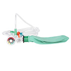 Hyperinflation System, Manometer, No Mask, 1 L Bag, Swivel Elbow, Pop-Off Valve, 14 ft O2 Tubing, Latex Free