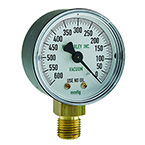 Gauge, Replacement, Vacuum, 0-600mmHg, Standard, High Flow, for Du-O-Vac Suction Unit