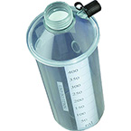 Collection Cannister, for Du-O-Vac Plus Model 5-100, Replacement Bottle, Impact Resistant Plastic