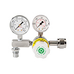 Diaphragm Air Regulator, 0-100 PSI Adjustable Pressure, CGA346, H Cylinder, Nut and Nipple
