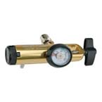 Air Regulator, CGA950, Click Style, D or E Cylinder, 0-15 LPM, Barb Outlet, DISS Power Take-Off
