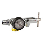 Air Regulator, Compact, 50 PSI Preset, Yoke Style, CGA950, DISS Outlet