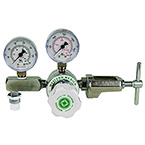 Carbon Dioxide Regulator, Small Cylinder, 0-100 PSI, Adjustable, Cga940, Yoke Style
