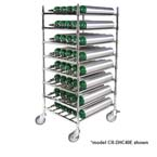 Horizontal Cylinder Cart, Holds 60 E Cylinders, Chrome Plated, 5in Casters with Brakes 	  Horizontal Cylinder Cart, Holds 40 E Cylinders, Chrome Plated, 5in Casters with Brakes