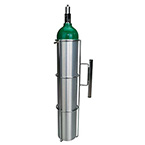 Oxygen Cylinder Holder, D or E Cylinder, for Flat Surface Mounting