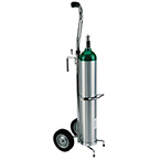 Cylinder Cart, Deluxe, D, E Cylinders, Rolling Cart, 1/2in Mounting Hook