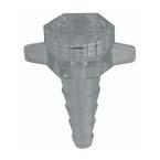 Nut Nipple Adaptor, Xmas Tree, for Flowmeter Tubing, Clear, Disposable