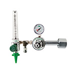 Oxygen Regulator, H Cylinder, CGA540, with 0-15 LPM Flowmeter, Power Take Off