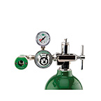 Oxygen Regulator, E Cylinder, CGA  870, with Puritan Qc Coupler Outlet