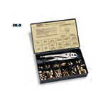 Hose Repair Kit, w/C-5 tool, B Size Fittings, 3/16 in ID Hose, 1/4 in ID Hose