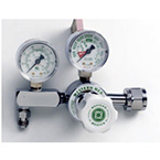 Oxygen Pressure Gauge Regulator, M1, Single Stage Adjustable, 0-100 PSI, CGA540 Nut and Nipple