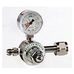 Oxygen Regulator, Single Stage, 50 PSI Preset, DISS Horizontal Outlet, CGA540 Nut and Nipple