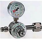 Oxygen Preset Pressure Gauge Regulator, M2 Series, 2 Stage, 50 PSI, H Cylinder, CGA540 Nut / Nipple