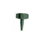 Nut / Nipple, to Tapered Barb, Oxygen, Swivel, Green, Plastic