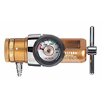 Oxygen Regulator, OPA Series, Compact Click Style, 0-15 LPM, CGA870 Yoke Inlet, Barbed Outlet