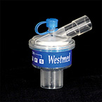 Heat Moisture Exchanger Filter, HMEF, Angled Inlet, CO2 Port, 150-1000ml Vt Range