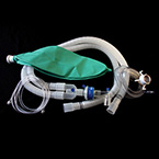 Anesthesia Breathing Circuit, 96in, 3L Bag, Parallel Wye, Gas Sampling Elbow, Temperature Port, Adult Mask