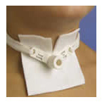 Tracheostomy Tube Holder, Trach-Tie, Neckband, Adult, One-Piece, Cotton Pile, Velcro Fasteners