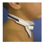 Tracheostomy Tube Holder, Pedi-Tie II, Pediatric, Adjustable, Hypoallergenic Cotton-Pile, 2-Piece
