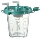 Rigid Suction Canister, Hi-Flow, Aerostat Filter, Float Valve Shutoff, Green Lid, 1200 cc