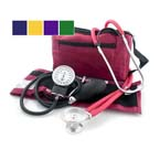 Diagnostic Kit, w/ BP Unit, Stethoscope, Carrying Case, Purple