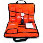 Blood Pressure Unit Kit, MediCuff 5, Palm Aneroid Gauge, Carrying Case, 5 Cuffs, Navy