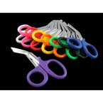 EMT Shears, Surgical Stainless Steel Blades, One Serrated Edge, Purple, 7.5-in