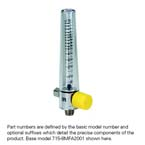 Air Flowmeter, Compact, 0-15 LPM, No Adapter, 1/8 NPT Female