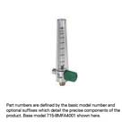 Compact Oxygen Flowmeter, 0-15 LPM, No Adapter, 1/8 NPT Female