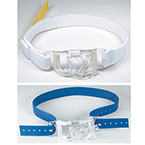 Holder, Endotracheal Tube, Blue Rubber Strap, Single Patient Use