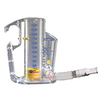 Incentive Spirometer, CliniFLO, Flow Based, Lung Exerciser, 6 Flow Settings, Built-In Handle