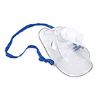 Aerosol Mask, Venticaire, Adult, 22 mm Male Swivel Connector, Feathered Edges, Nose Bridge, Strap