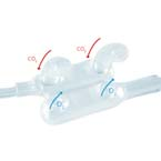 Cannula, Dual Nasal, Pediatric, End Tidal CO2 Monitoring, O2 Delivery, Female Luer, 7 ft