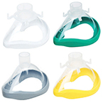Mask, Face, Anesthesia, QuadraLite, Single use, Clear, Green Seal, Adult, Size 4