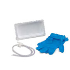 Suction Catheter Mini-Soft-Kit, Argyle, Graduated, w/Chimney Valve, Coil Packed, Whistle Tip, 2 Nitrile Gloves, 12 Fr